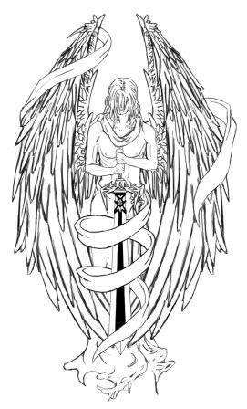 Gallery For gt Warrior Angel Tattoo Drawings