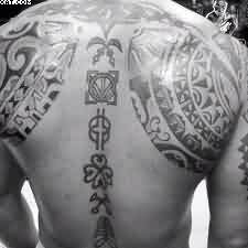 Big African Tattoo For Man