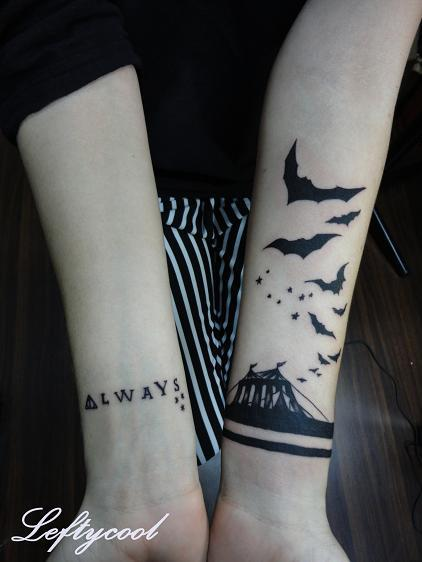 7bf8a217a619e Always Bats And Tiny Stars Tattoos On Left Arm