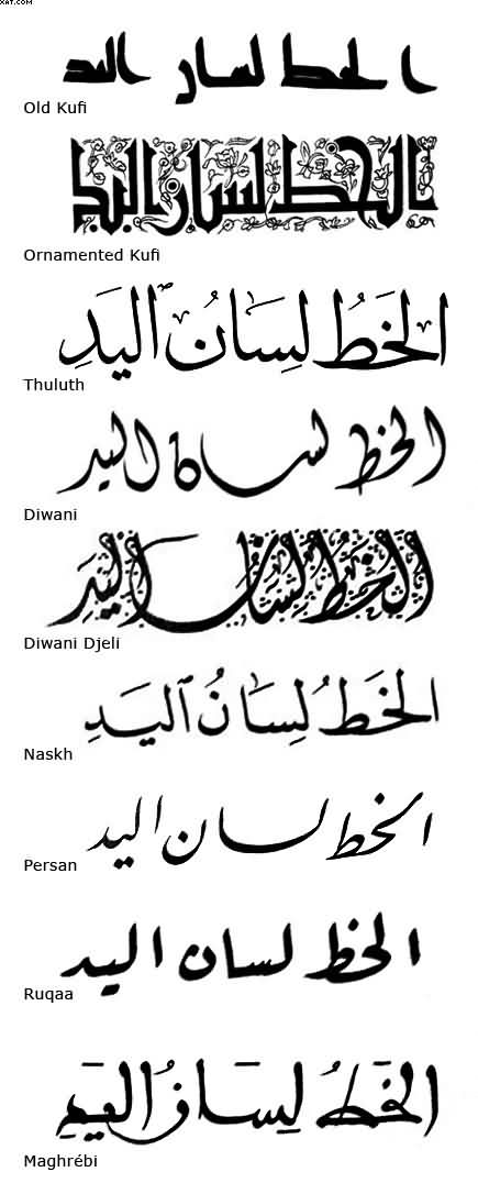 Calligraphy fonts for tattoos images for Arabic lettering tattoo generator