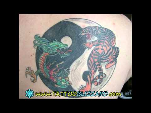 Asian Dragon And Tiger Yin Yang Tattoo Tattooshunter Com