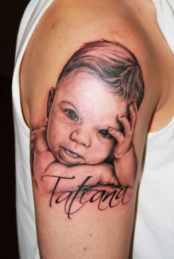 Baby Tattoo For Biceps