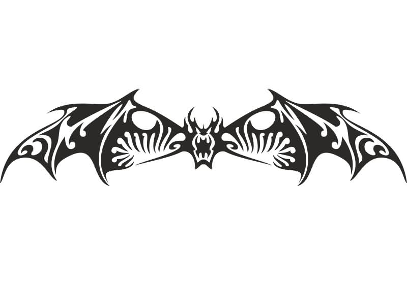 angry bat tribal tattoo design. Black Bedroom Furniture Sets. Home Design Ideas