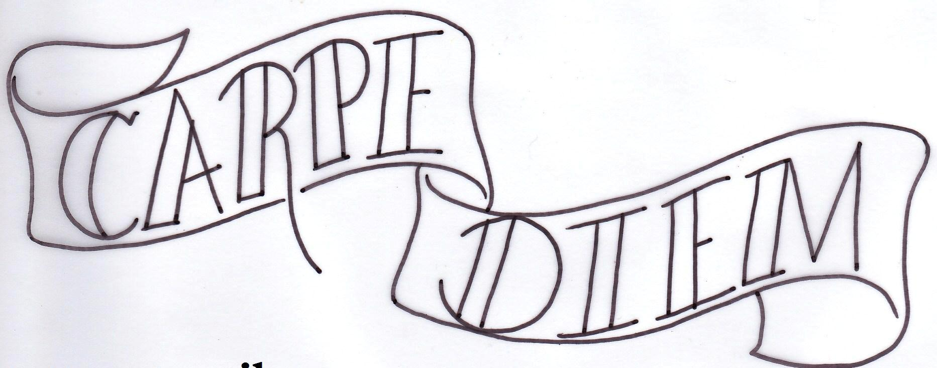 Carpe Diem Banner Tattoo Design