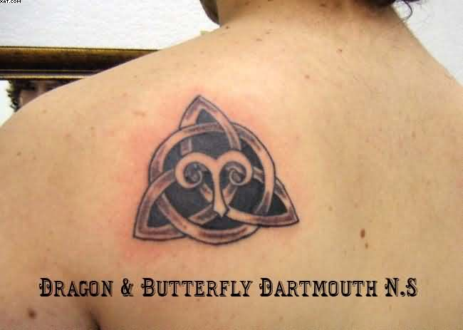Celtic Knot and Aries Tattoo