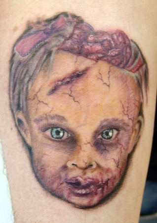 Fabulous Baby Face Tattoo Design