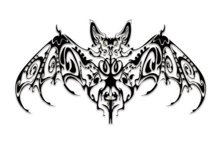 Fantastic Bat Tattoo Design (2)