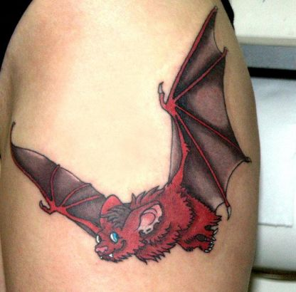 Red Bat Tattoo Image