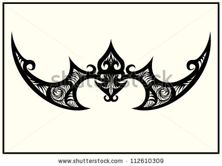 Stock Vector Bat Tribal Tattoo