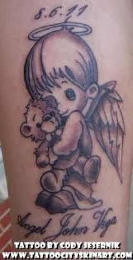 Tremendous Tattoo Design Of Baby Girl