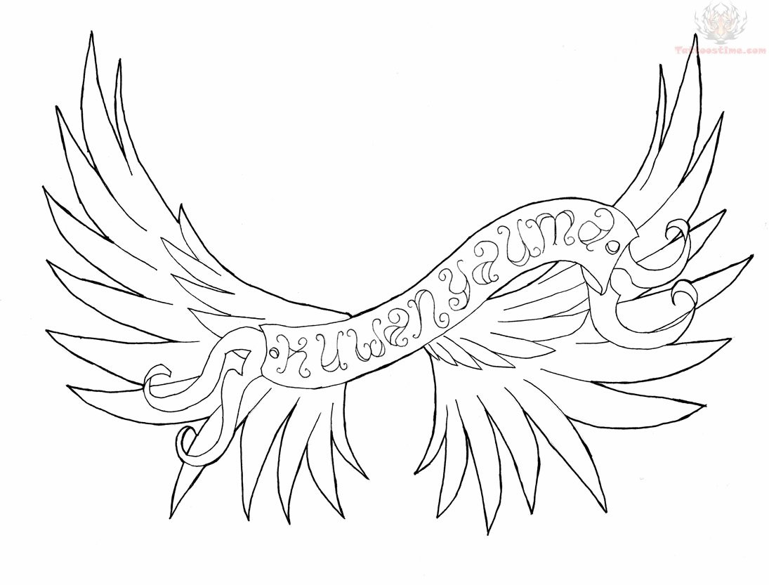 Wings & Banner Tattoo