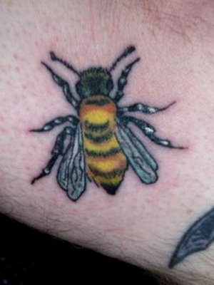 A Very Lovely Bee Tattoo