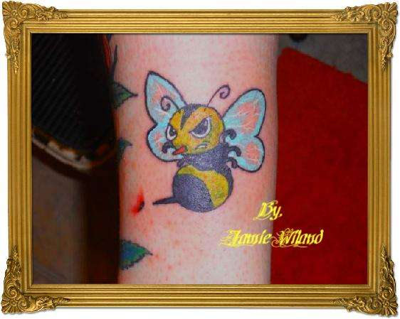 Bee With Red Nose Tattoo Photo