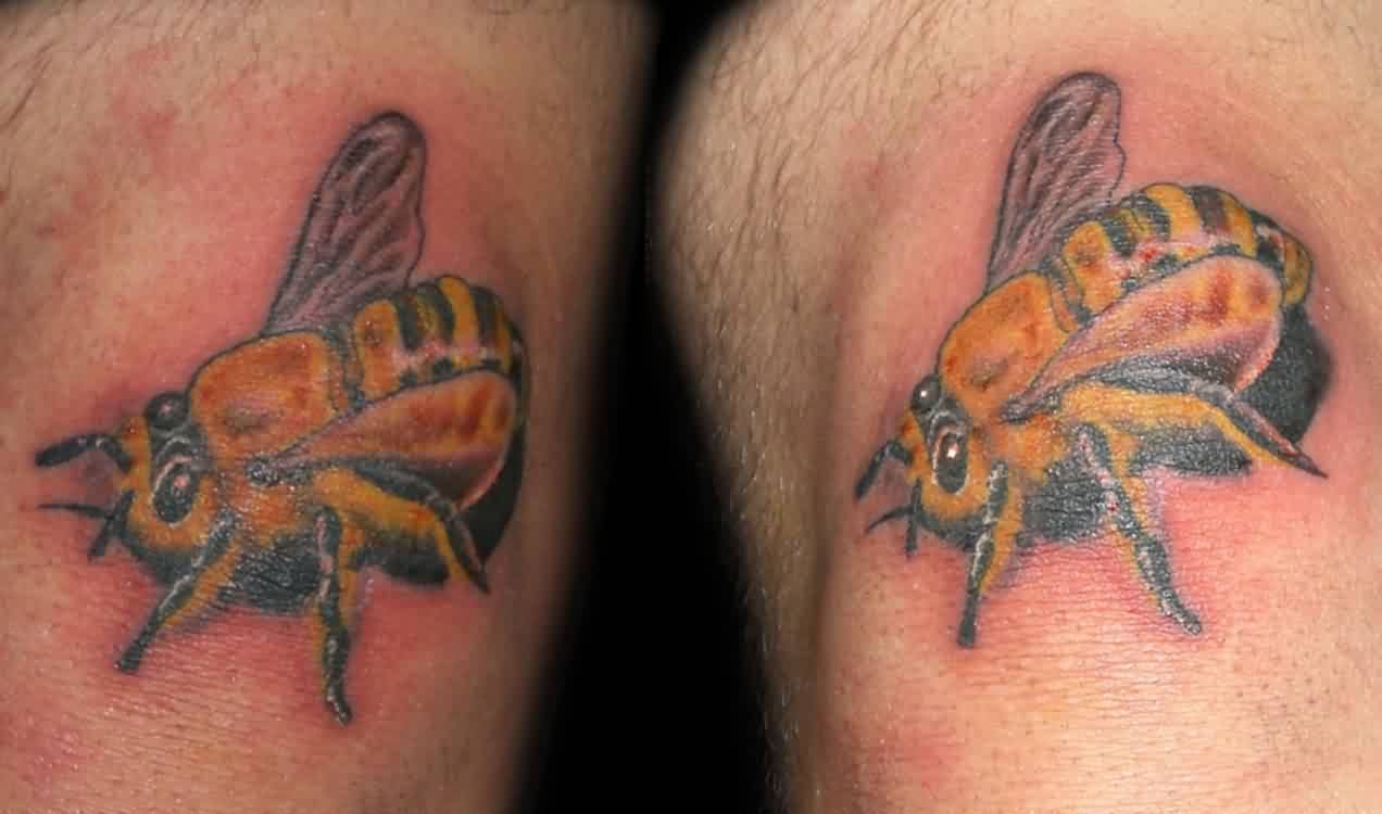 Clean Realistic Bee Tattoo