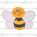 Round Face Bee Tattoo Design