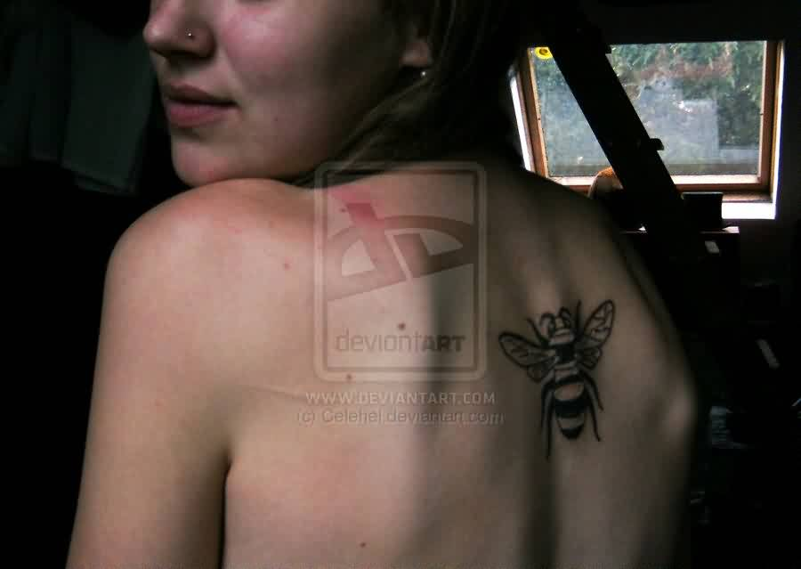 Sexy Girl With The Bee Tattoo