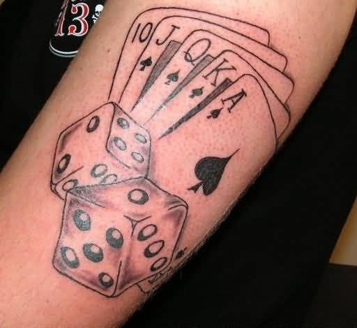 Gambling tattoo ideas and gambling tattoo designs page 17 for Card tattoo designs