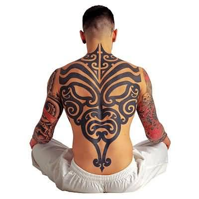 Gangster Tattoo - Gangster Tribal Tattoo On Back