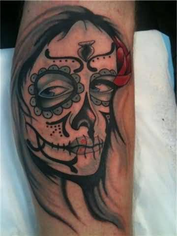 Beautiful Sugar Skull Tattoos with Images - Piercings.