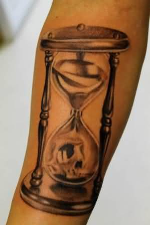 Glass tattoo ideas and glass tattoo designs page 45 for Skull hourglass tattoo