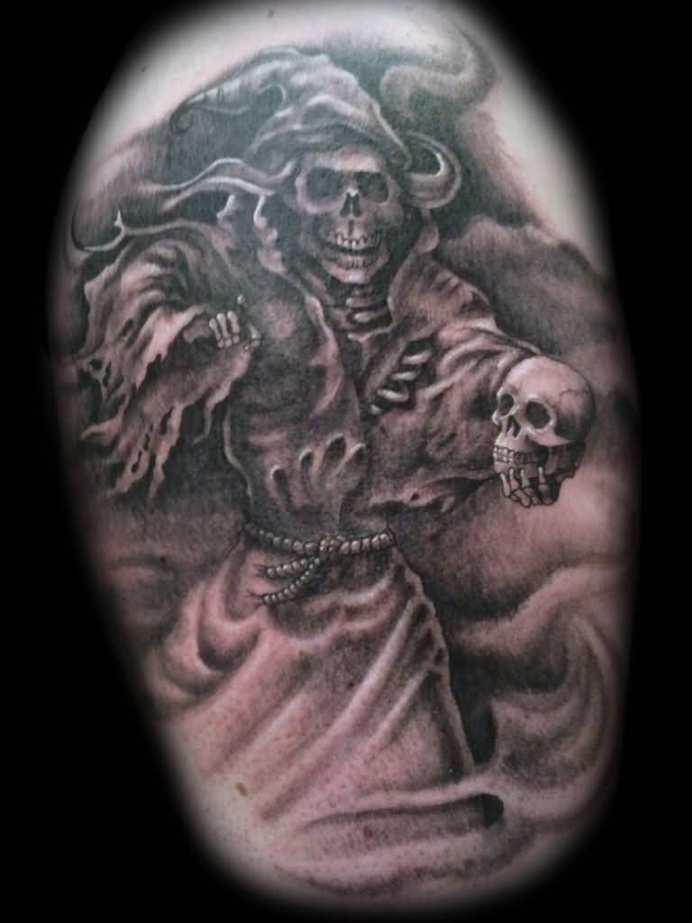 grim reaper tattoos mind blowing forearm. Black Bedroom Furniture Sets. Home Design Ideas