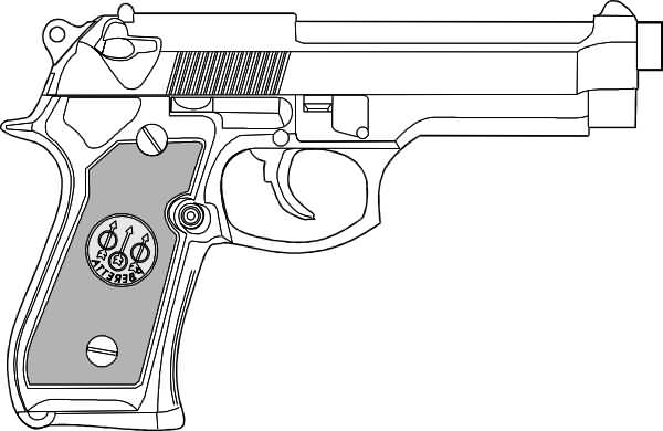 Comments Off On Gun Tattoo 9mm Pistol Design