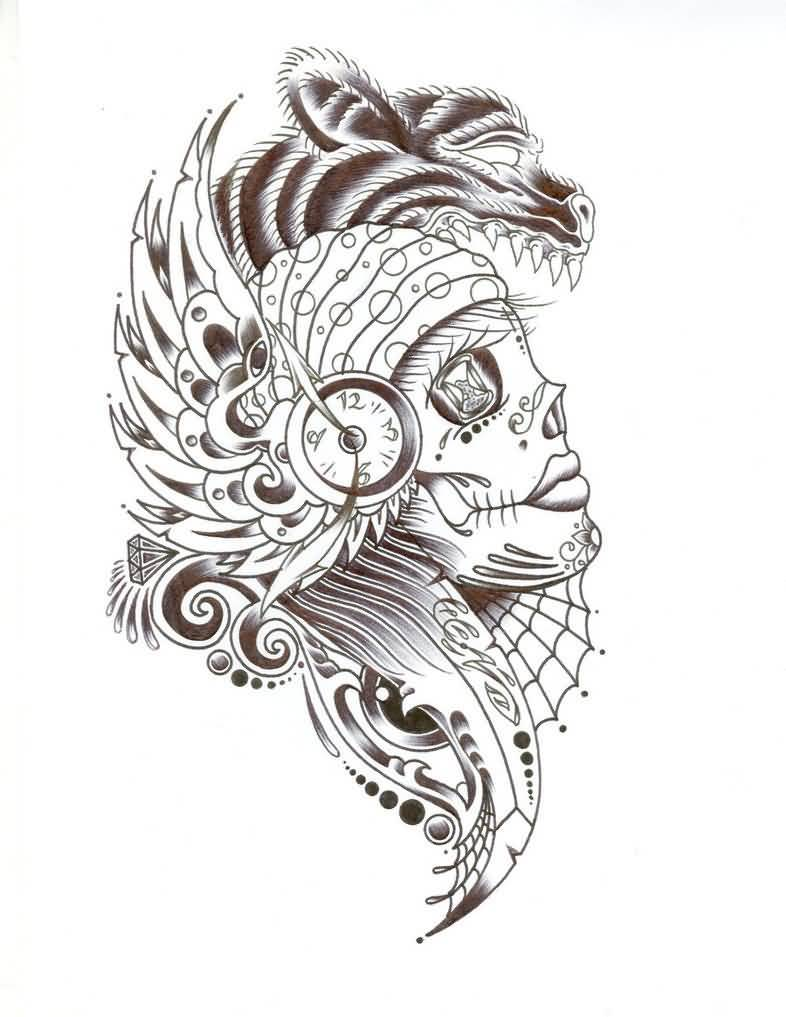 Gypsy Tattoo – Day Of The Dead Gypsy Girl `Design