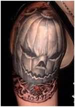 Halloween Tattoo - Beautiful Dark Black On Shoulder