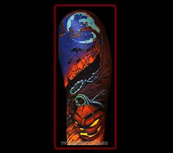 Halloween Tattoo - Marvelous  Halloween Scene Design