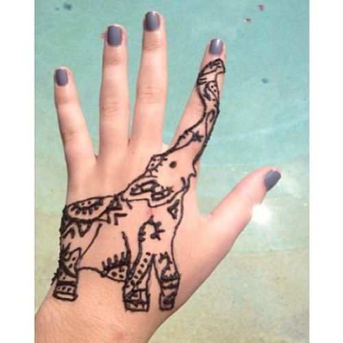 Hand Tattoo Mind Blowing Henna Elephant Design For Girls