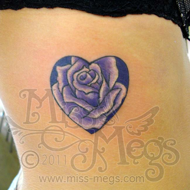 dcae570fd8f5d Related Tattoos. Heart Tattoo – Fabulous Lovely Rose Design