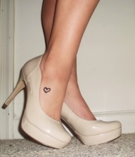 c74dc938a Heart Tattoo - Perfect Tiny Heart On Foot For Girls