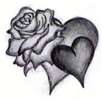 heart tattoo � rose heart drawing tattooshuntercom