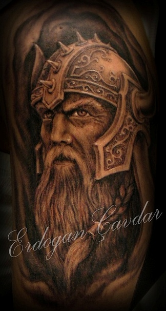 helmet tattoo viking skull with sketch. Black Bedroom Furniture Sets. Home Design Ideas