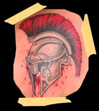 Helmet Tattoo - Blood  Photo Design