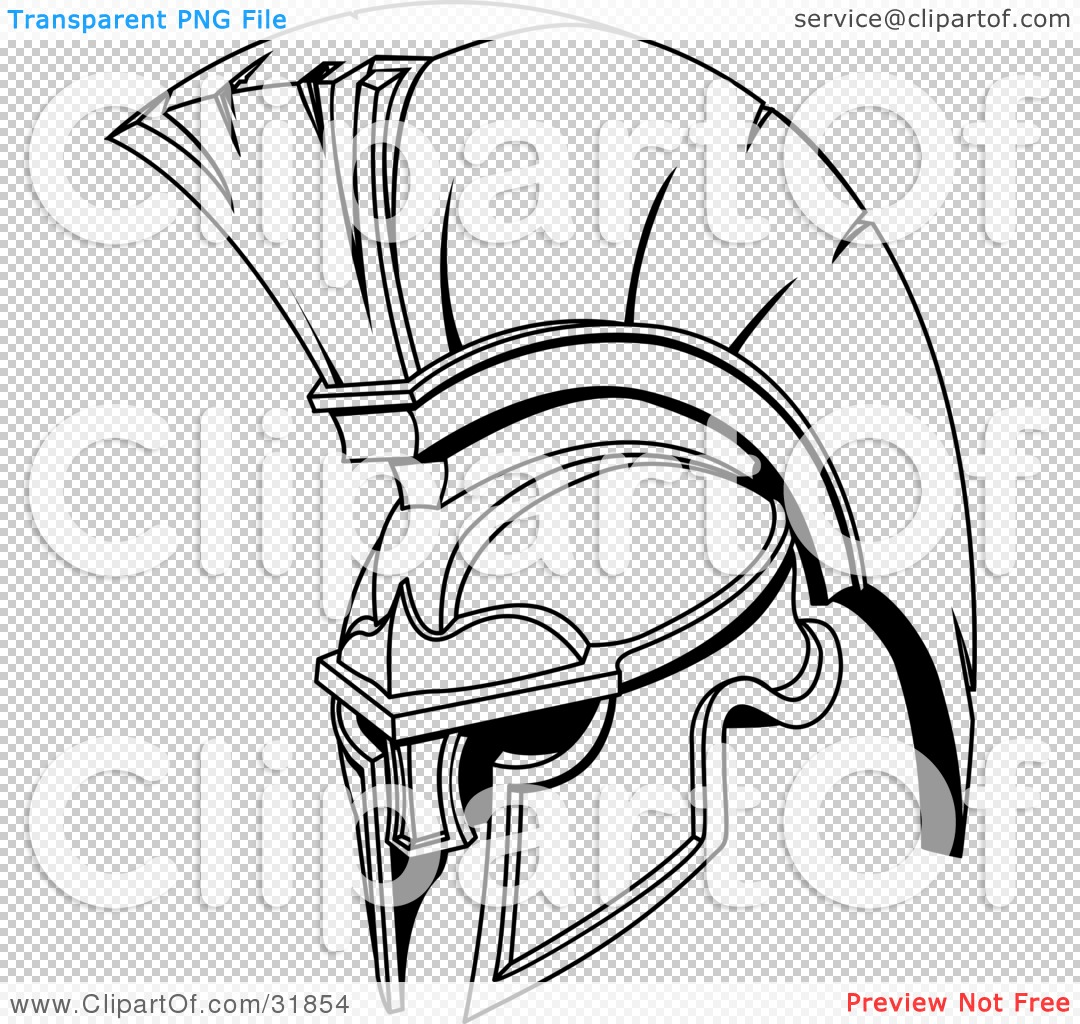 Helmet Tattoos Black And White Spartan Or Trojan Design