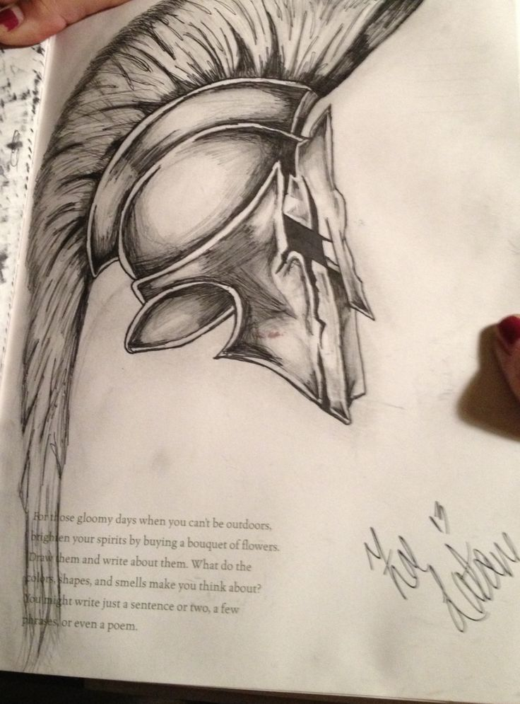 Helmets Drawings Drawing Spartan Helmet