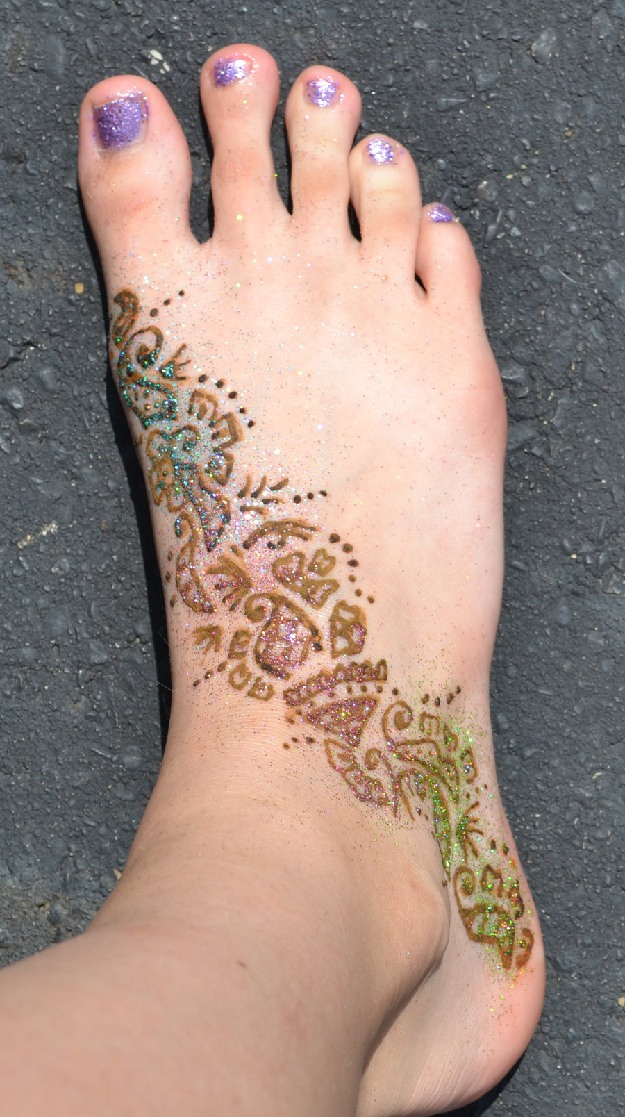 Henna Tattoo - Nice Foot  Design For Girls
