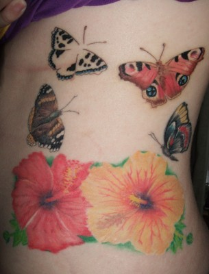 Hibiscus Tattoo - Perfect Butterflies n Hibiscus Designs