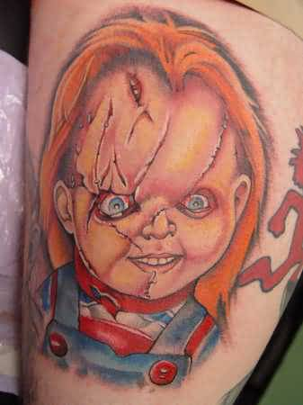 horror tattoo chucky pic design. Black Bedroom Furniture Sets. Home Design Ideas