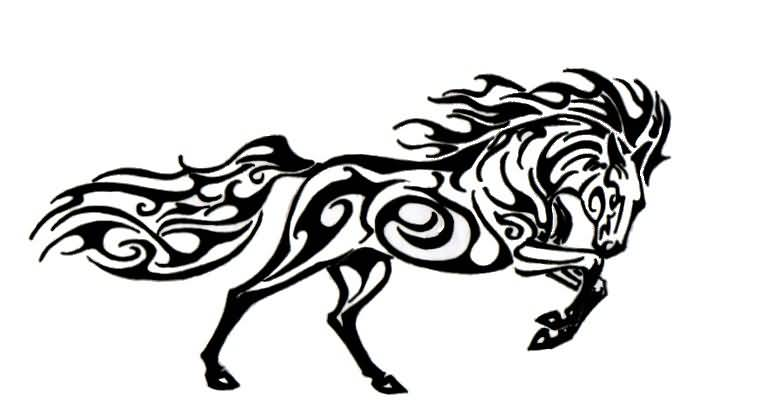 horse tattoo ideas and horse tattoo designs page 28. Black Bedroom Furniture Sets. Home Design Ideas