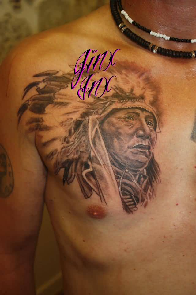 Indian tattoo beautiful cherokee sample for Cherokee indian tribal tattoos