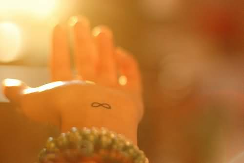 Infinity Symbol Tattoo - Tiny Infinity Symbol On Wrist
