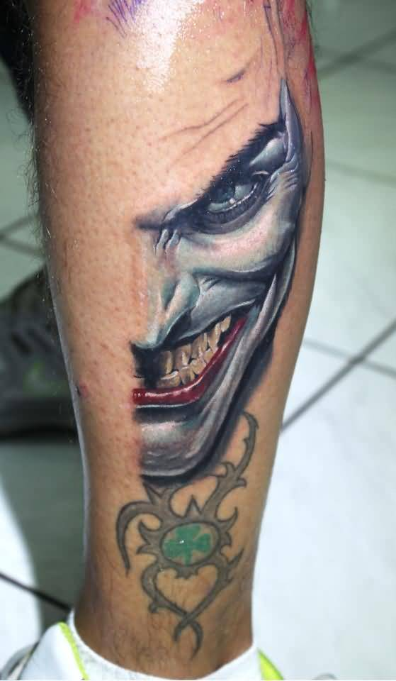 Joker tattoo awesome insane face design for Home by johker design