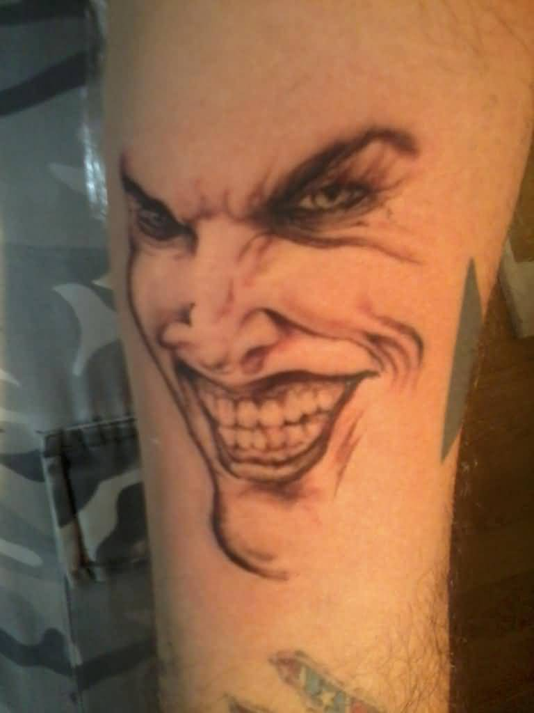 Joker Tattoo Best Simple Joker Face Design