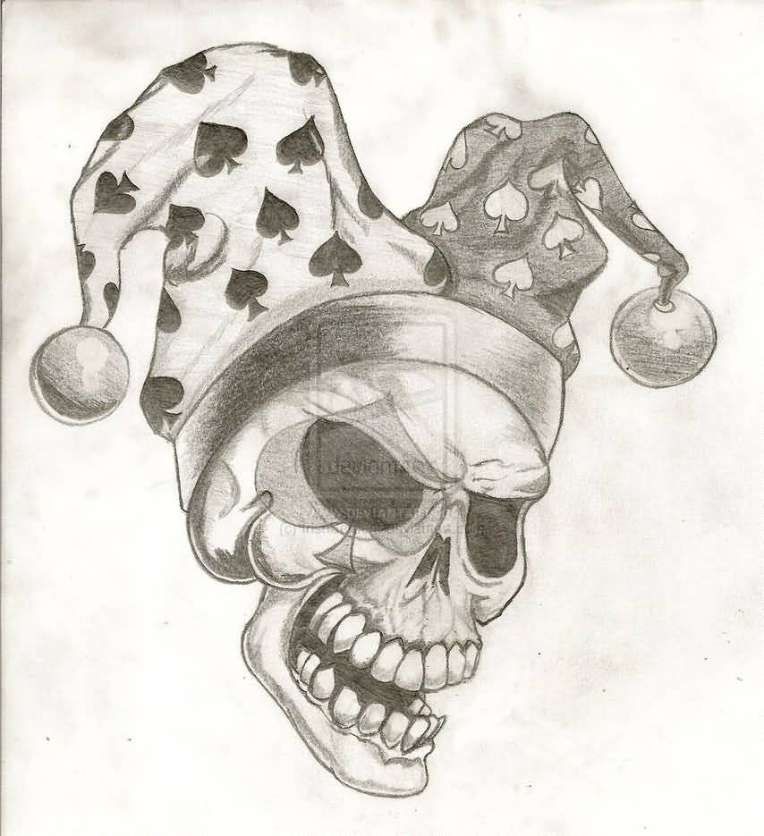 59b640005977c Joker Tattoo – Lovely Free Joker Skull Design
