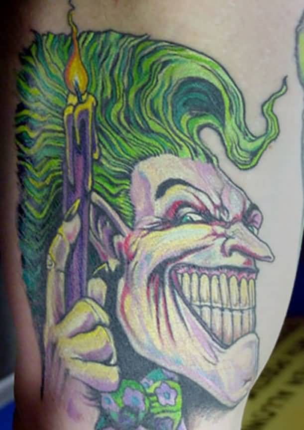 Joker Tattoo Latest Joker With Candle Design Tattooshunter Com