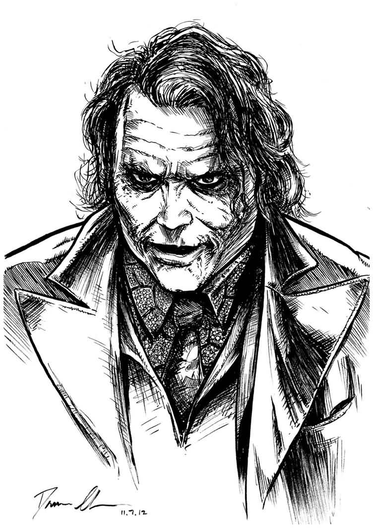 Beautiful Baby Joker Design With Pencil Drawing