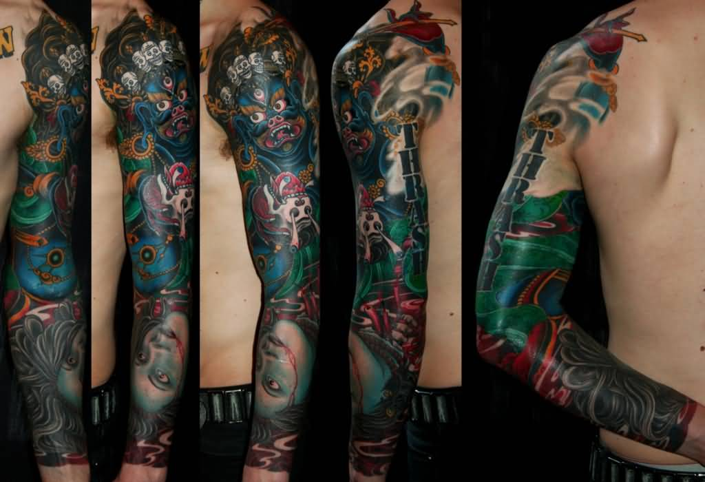 King Tattoo - Brilliant King Carlos Sleeve Design