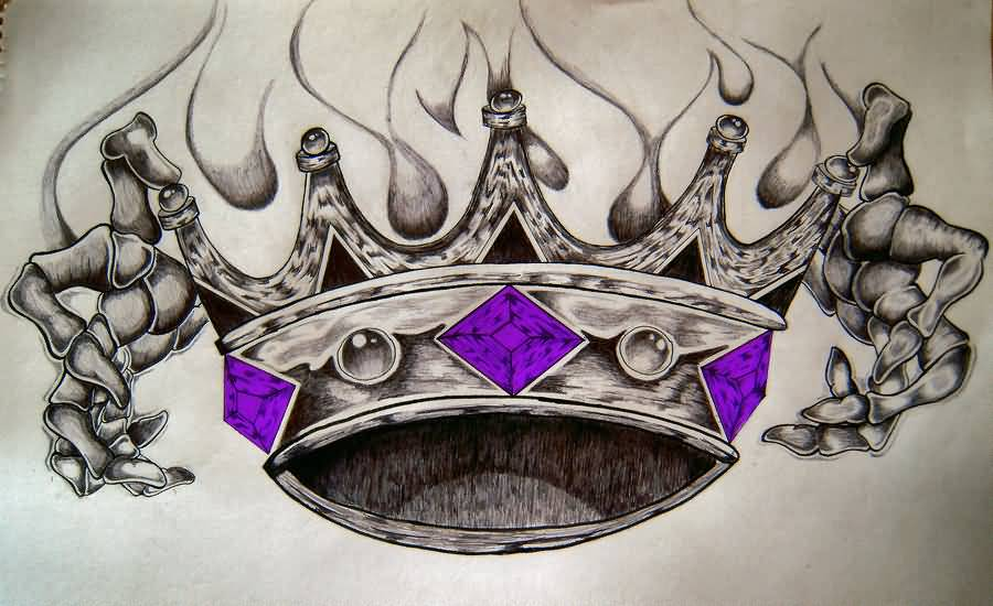 King Tattoo - Brilliant King Crown Design